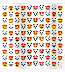 Love Panda Emoji JoyPixels Lovely Cute Funny Pandas Poster