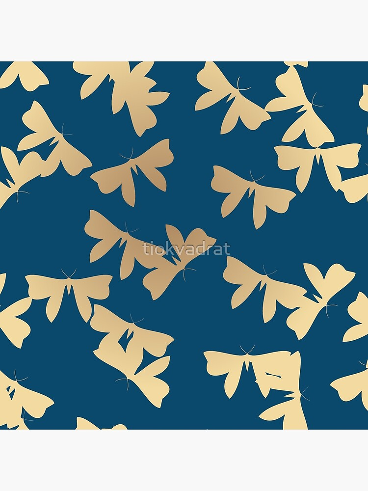 Moths - Gold on Blue by tiokvadrat