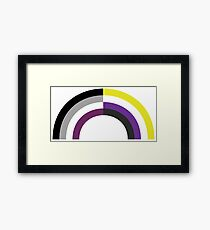 Non-Binary Asexual Rainbow Framed Print