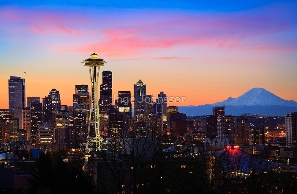Seattle Dawn by Inge Johnsson