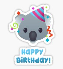 Happy Birthday - koala emoji Sticker
