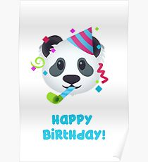 Happy Birthday - Panda emoji Poster