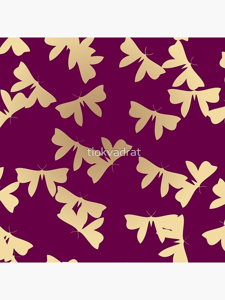 Moths - Gold on Purple by tiokvadrat