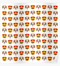 Love Dogs Emoji JoyPixels Lovely Cute Funny Puppies Poster