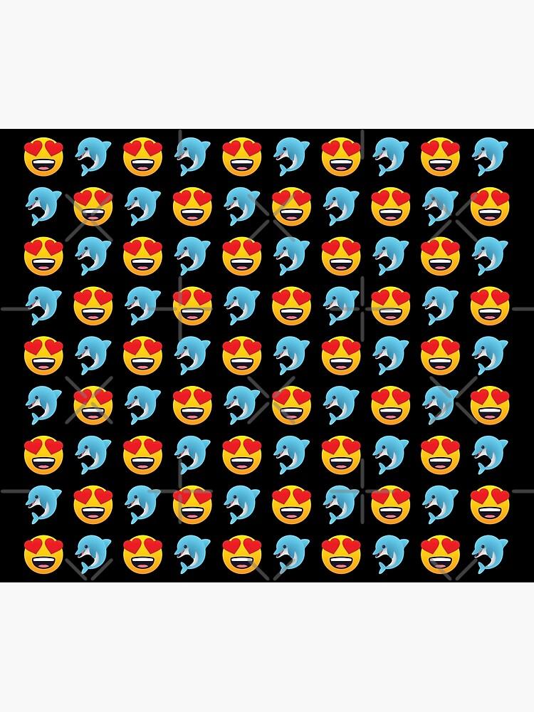 Love Dolphin Emoji JoyPixels Lovely Cute Funny Dolphins by el-patron
