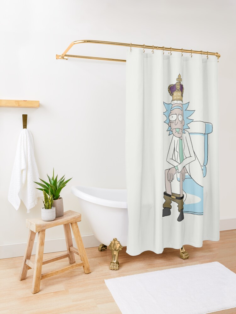 Alternate view of King of Sh*t Shower Curtain