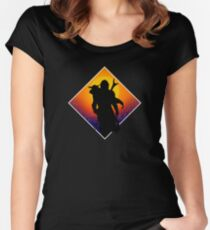 Sunset silhouette Fitted Scoop T-Shirt