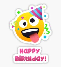 Happy Birthday - crazy face Emoji Sticker