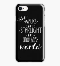 She walks in starlight iPhone Case/Skin