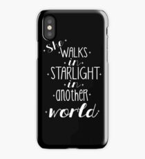She walks in starlight iPhone Case/Skin