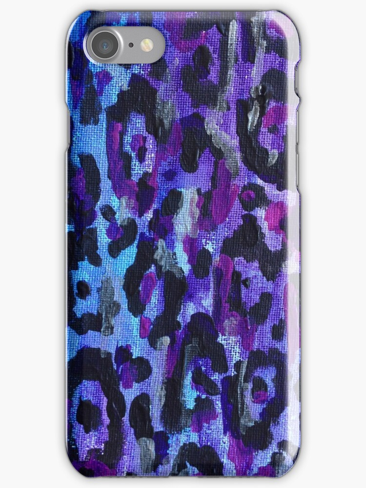 Leopard Print iPhone Case - Purple by ubiquitoid