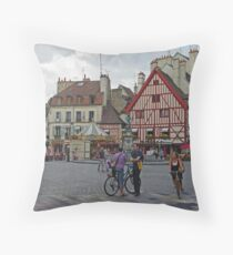 Dijon, France, Town Centre Throw Pillow