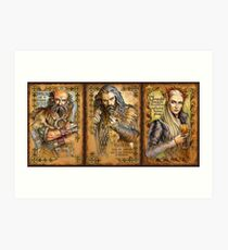 Dwalin, Thorin and Thranduil Art Print