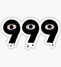 999 (Dripping Eyes) Club Forever Sticker