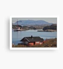A small piece of Vikna municipality, Norway Canvas Print