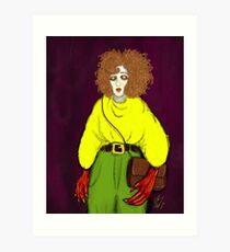 Girl with Handbag Art Print