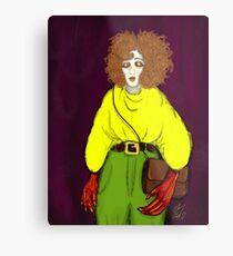 Girl with Handbag Metal Print