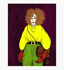 Girl with Handbag Photographic Print