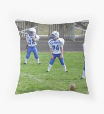 Waiting for kickoff Throw Pillow