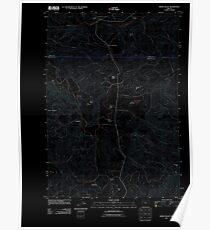 USGS Topo Map Oregon Kings Valley 20110831 TM Inverted Poster