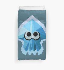 Splatoon Low-Poly Blue Squid Duvet Cover