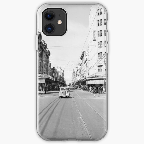 Hay Street, Perth, 1941, State Library of Western Australia iPhone Soft Case