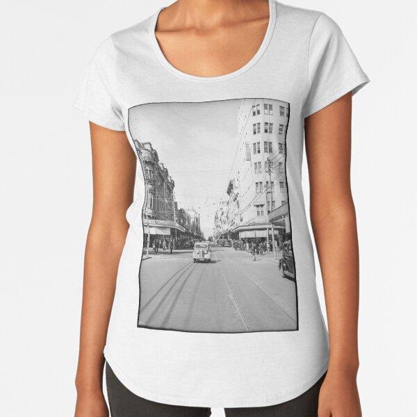 Hay Street, Perth, 1941, State Library of Western Australia Premium Scoop T-Shirt