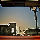 A Westward Window Reflection - Dusk Through the Palms - San Diego Series by Jack McCabe