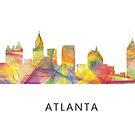 Atlanta, Georgia Skyline WB1 von Marlene Watson