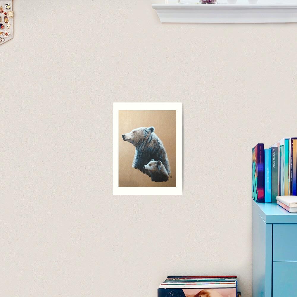 Dipper and Bear Art Print