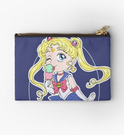 Sailor Moon and Ice Cream Zipper Pouch