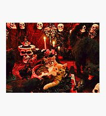 Venus & Di Milo ~ Gothic Kitty Cat Kittens in Halloween Art Decor Photographic Print