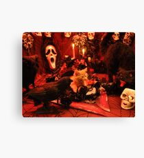 Di Milo ~ The Scream ~ Gothic Kitty Cat Kitten in Halloween Horror House Canvas Print