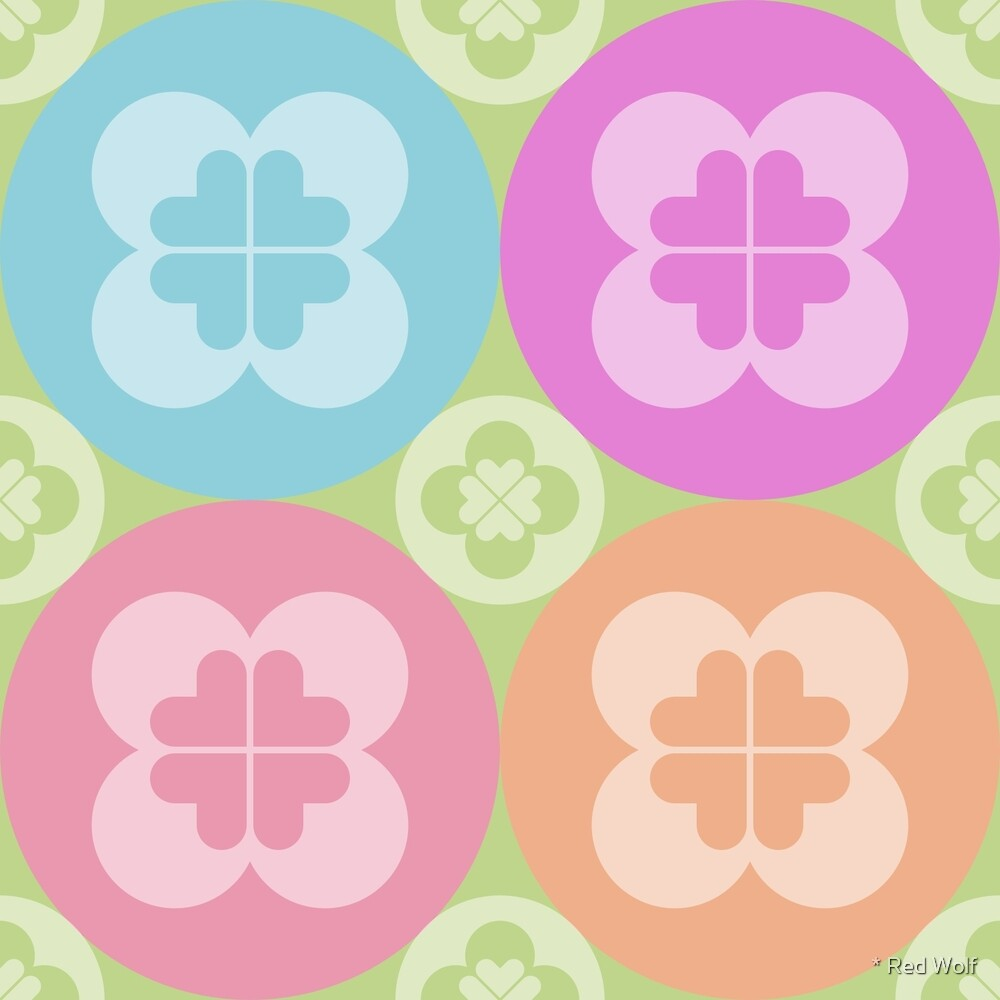 Geometric Pattern: Flower Circle: Pastel by * Red Wolf