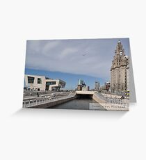 Canal View at the Pierhead, Liverpool  Greeting Card