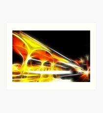 Night on flame Art Print