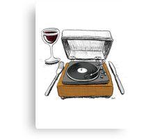 Dinner Music Canvas Print