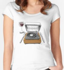 Dinner Music Women's Fitted Scoop T-Shirt