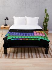 #Mendeleev's #Periodic #Table of the #Elements Throw Blanket