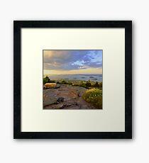 Cadillac Mountain Evening Framed Print