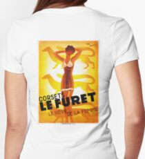 Vintage Fashion, French corset company, Art Deco Womens Fitted T-Shirt