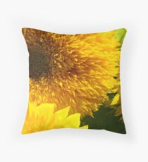 Yellow Bright SunFlower Garden Floral Baslee Troutman Throw Pillow