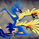 Silly Upside Down Microraptor by Fable