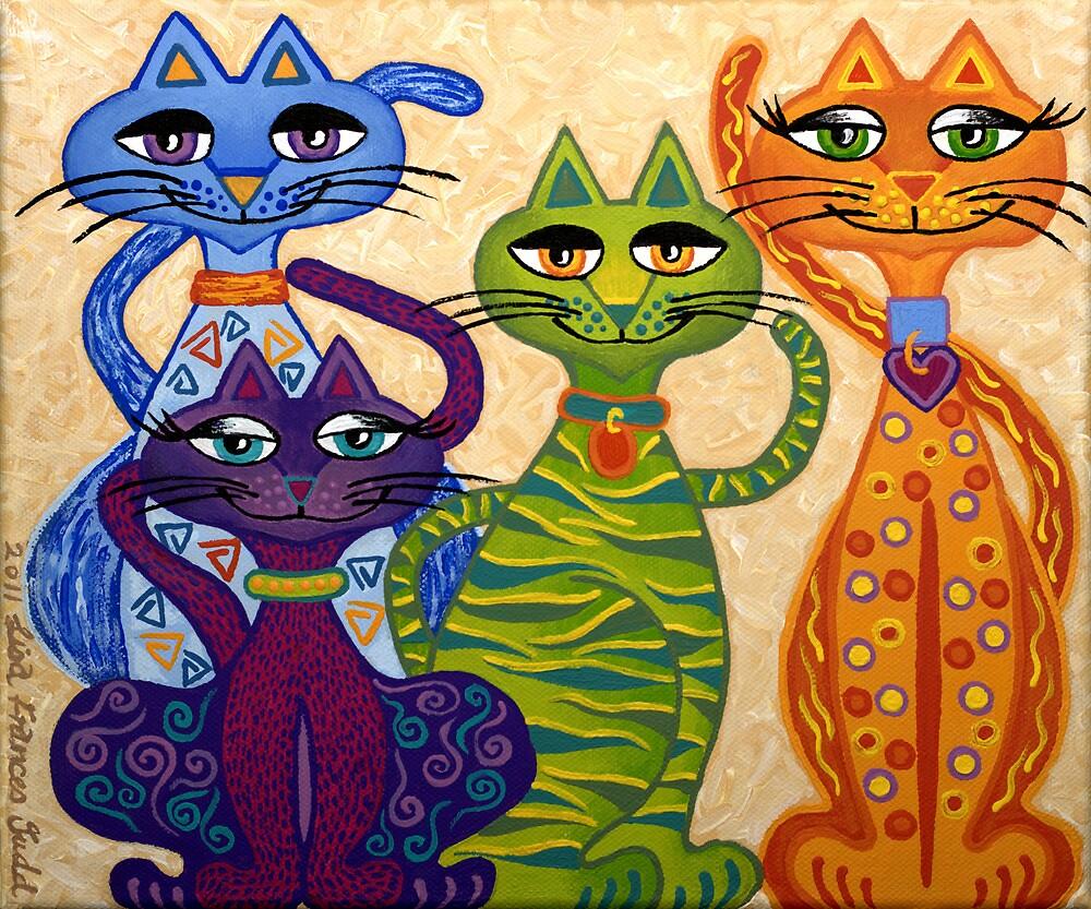 'High Street Cats' - their kind of posh! by Lisafrancesjudd