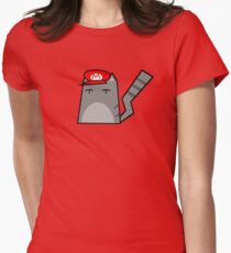 Mario Cat Women's Fitted T-Shirt
