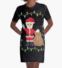 OMG Santa Coming Graphic T-Shirt Dress
