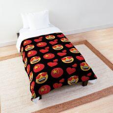 Love Chinese Emoji JoyPixels Travel to China Comforter