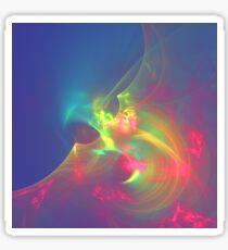 Sea wave ghost fractal Sticker