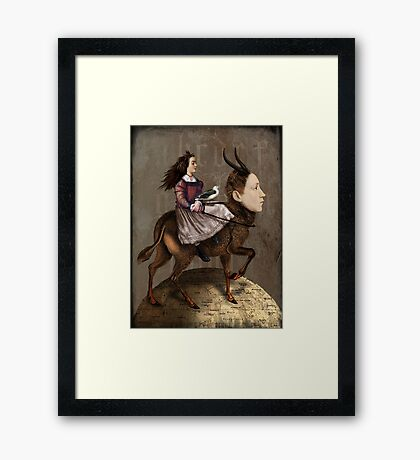 The storyteller Framed Print