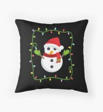OMG Santa Coming Throw Pillow